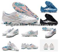 tacos de fútbol rosa al por mayor-2019 x 99 19,1 FG F50 Súper zapatos de fútbol para hombre de luz blanca brillante cian choque rosa caliente del fútbol botas A Limited Edition grapas del tamaño de los EEUU 6.5-11