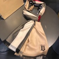 Wholesale checkered scarves resale online - Designer autumn winter cashmere scarf high quality luxury classic popular style checkered cashmere scarf cm couple Christmas scarf