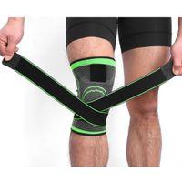 эластичные спортивные повязки колено оптовых-3D Герметичного Фитнеса бинты Колена поддержки Brace Elastic нейлон Спорт сжатие Pad рукав