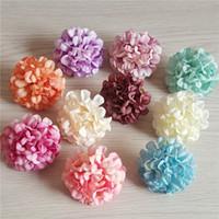 buquê de flores de cravo venda por atacado-100 pcs 10 cores 4.5 cm cabeças de flor artificial de seda cravo daisy para diy decoração de casamento buquê de flores de noiva