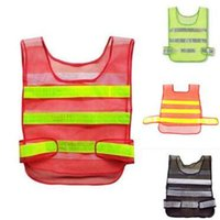 Wholesale man work clothing online - 3 Colors Safety Clothing Reflective Vest Hollow Grid Vest High Visibility Warning Safety Working Construction Traffic Vest CCA10953