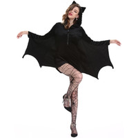ingrosso cosplay di halloween più il formato-Bat Halloween Costume Cosplay 4xl Plus Size Adulto Sexy Black Vampire Devil Kigurumi Tuta Fancy Dress con cappuccio