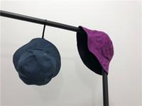 ingrosso cappelli di jeans-19ss lussuoso marchio Design Topee loghi blu viola jeans cappello benna Berretti Uomo Donna Moda casual Streetwear Cappelli all'aperto