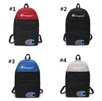 Wholesale school bag trendy resale online - Champion Letter Color Matching Backpack Oxford Fabric Shoulder Bags Packsack Trendy Students School Bag Sports Travel Storage Rucksack C3276