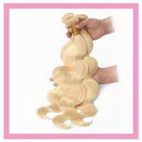 bakire malezya kılları 613 toptan satış-Malezya% 100% İnsan Saç 1 Adet / grup 613 # Renk Vücut Dalga Bakire Saç Uzantıları 95-105 g / adet Sarışın Saç Ürünleri Atkı