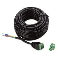 rs485 ptz toptan satış-CCTV 20 Metre RS485 Sinyal İletim Kontrol Kablosu için CCTV PTZ Pan / Tilt Yakınlaştırma Güvenlik Kamera Klavye denetleyici DVR