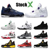 Wholesale size orange basketball shoes resale online - Stock X Designer Mens Basketball Shoes court purple Loyal Blue Cool grey bred What The s Sneakers Sports Shoes size