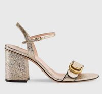 beste heeled pantoffeln großhandel-Slippers Sandals High heel Slides Beste Qualität Designer Schuhe Animal Design Huaraches Flip Flops Slipper Für Frauen von shoe06 KQ1402