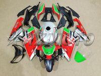 aprilia rs 125 abs carenado al por mayor-Nuevo kit de carenado completo ABS de la motocicleta + cubierta del tanque adecuado para Aprilia RS125 06 07 08 09 10 11 RS 125 2006 2011 Conjunto de carenados rojo personalizado
