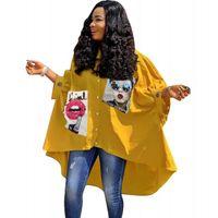nuevos estilos de vestidos africanos al por mayor-Vestidos de camisa africana para mujer 2019 Ropa de mujer africana Dashiki Nuevo vestido de una pieza estilo club nocturno impreso para