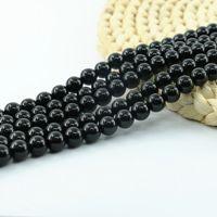 Color: Black, Item Diameter: 10MM Calvas Natural Stone 4-14mm Round Matte Wholesale Black Beads Dull Polish Onyx Carnelian Black Stone Beads for Jewelry Making
