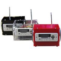 kit amplificador bluetooth al por mayor-chips de amplificador operacional de pila LEORY DIY Mini DC 5V 2x3W Multifunción bluetooth inalámbrico pequeño amplificador de potencia Kit de altavoz con MP3 A ...