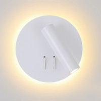 Wholesale bedside bedroom lights for sale - Group buy Nordic LED Wall Lamp with switch W spotligh W backlight free rotation Sconce indoor wall light For Home Bedroom Bedside light
