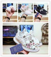 erkek kızlar gündelik beyaz ayakkabılar toptan satış-FILA disruptor 2 II Yeni Bebek Çocuk Orijinal Rahat Ayakkabılar Beyaz Pembe Erkek Kız II 2 Çocuk DOSYA özel bölüm spor sneaker koşu ayakkabıları arttı