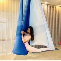 ingrosso swing inversione yoga-New Multicolor Antenna antigravità Yoga Hammock Altalena Battiscopa Yoga Bodybuilding Palestra Fitness Traverso Trapez