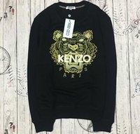 ingrosso maglioni di marca migliori-all'ingrosso la migliore qualità K * Z * Prais marchio classico ricamato tigre testa logo maglione o-collo pullover di Terry sweatershirt jimpers originale