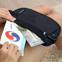 Wholesale travel security purse for sale - Group buy Travel Pouch Waist Belt Bag Compact Sport Jog Run Zippered Hidden Money Security Storage Bag Kids Purse UFJ649