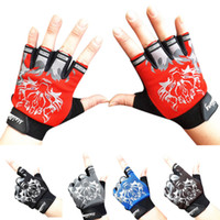 Wholesale fingerless bike gloves for sale - Group buy Fashion Antiskid Cycling Bike Sports Breathable Wolf Head Gloves winter gloves plush fingerless guantes mujer Gift