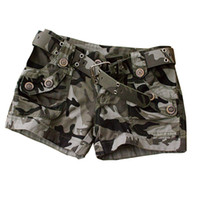Wholesale camouflage women army military for sale - Group buy High Quality Summer Fashion Camouflage Shorts women Casual Camo Cargo Shorts Army Military Hot Shorts W484 Y19050905