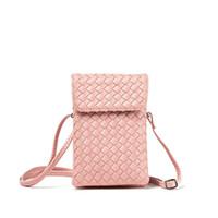 carteiras coreanas bonitos venda por atacado-Menina de bagagem 2019 quente versão coreana mini-malha bonito carteira de mudança de bolso do telefone móvel com um ombro inclinado saco