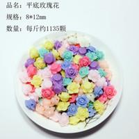 akrilik çiçekler takı toptan satış-Renk 300PCS çiçek akrilik boncuk çocuk DIY boncuklu kolye bilezik toptan gevşek boncuk takı aksesuar malzemeyi karıştırın