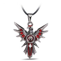 Wholesale lol pendants for sale - Group buy Stainless Steel Necklace Game League of LOL Leona Shield Metal Necklace can dropshipping Cosplay Accessories Women Men Jewelry