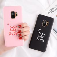 Wholesale love iphone couple for sale - Group buy Hard Couple Cases Cover for Samsung Galaxy S8 S9 S10 Plus iPhone XS MAX Love Heart Style Fashion Simple Back Cover Shell