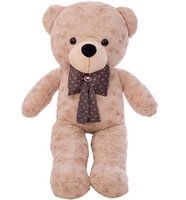 Wholesale big brown stuffed teddy bear resale online - High Quality CM Teddy Bear With Scarf Stuffed Animals Bear Plush Toys Teddy Bear Doll Lovers Baby Birthday Gift