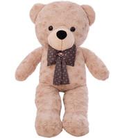 anime schals großhandel-Hohe Qualität 75 CM Teddybär Mit Schal Stofftiere Bär Plüsch Spielzeug Teddybär Puppe Liebhaber Baby Geburtstagsgeschenk