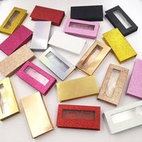 Wholesale fake eyelash box resale online - Magnetic Lashes Box D Mink Eyelashes Boxes Fake False Eyelashes Packaging Case Empty Eyelash Box Cosmetic Tools RRA1780
