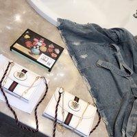 moda renkli çanta toptan satış-2019 Yeni liste kadınlar tasarımcı çanta hakiki deri moda en kaliteli Renkli kafatası ve kristal kaplan kafası Çift kemer designin