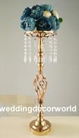 ingrosso arrangiamenti floreali per tavoli matrimoniali-Matrimonio fiore stand centrotavola in metallo placcatura in oro matrimoni geometrica strada piombo per la festa decor1077