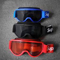 spor yarış camları toptan satış-Yeni Serin FW15 Sup Kırmızı Motosiklet Gözlüğü Kayak Gözlüğü Motosiklet Gözlüğü Motokros Gözlük Yarış Paintball CS Için Koruyucu Dişli Bisiklet Maske spor