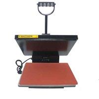 transferencias calientes para camisetas al por mayor-máquina de transferencia de calor de superficie plana ropa de la máquina de estampación en caliente camiseta placa de prensado de imprimir 38 * 38 taladro de estampación en caliente