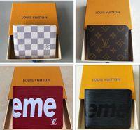 leder mann münzen tasche großhandel-Neue designer tote brieftasche aus hochwertigem leder männer kurze brieftaschen für frauen männer geldbörse handtaschen mit box