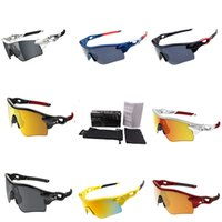 Wholesale Wrap Round Coating Sunglasses Half Frame Sports Cycling Glasses Top Ski Goggles Round Colored Sun glasses Famous Brand Sportswear K18