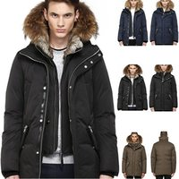 ingrosso marca di lusso degli uomini di inverno del cappotto-Canada Luxury Winter Warm Abbigliamento di marca Giacche Mac Edward-f4 Winter Down Bomber Jacket Thick Men S Down Jacket per uomo Coat Male Dhl Free