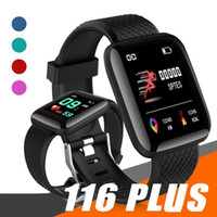 Wholesale step smart fitness watch resale online - 116 Plus Smart Watch Bracelet Fitness Tracker Heart Rate Step Counter Activity Monitor Band Wristband PK PLUS M3 For Smartphone