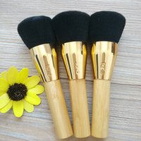 Wholesale beauty cosmetics logos for sale - Group buy Professional Makeup brushes Bamboo Handle Powder Concealer Foundation Makeup Tools Beauty Cosmetics brush with logo LJJK1710