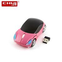 mini laptop laptop rosa venda por atacado-Shaped Wireless Mouse bonito Mini Car Ratos USB Computer Mouse Rosa Optical Para Notebook PC Laptop Air menina miúdos Para