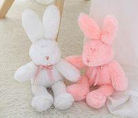 Wholesale handmade rabbit toys resale online - Rabbit Plush Toy Easter Soft Stuffed Animal Rabbit Sleeping Cute Cartoon Plush Toy Stuffed Decorative Pillow Children Birthday Gift