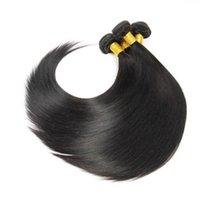 teclar polegadas venda por atacado-Em linha reta cabelo pacotes Natural Color Non Remy 100% humano 100g pedaço de cabelo brasileiro pode ser tingido 8-30 polegadas não transformados cabelo tecelagem Virgin