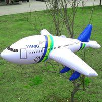 velho avião brinquedo venda por atacado-Insufláveis de Alta Qualidade Brinquedos Infláveis Simulação Modelo de Avião a Jato Adereços Pvc 3 Anos de Avião de Aniversário Da Criança Brinquedo Do Partido