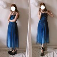 3e47a3904 Moda japonesa JSK vestidos de baile vestido maxi lolita verano kawaii lindo  vestido de hada encaje princesa fiesta larga niña hermosa