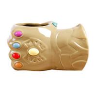 3d eldivenler toptan satış-Marvel comics 3d bardaklar sonsuzluk eldiven kupa seramik kupalar kahve kupalar fincan Büyük su bardağı Yok Etmek eldiven fincan T2I5215