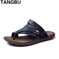 Wholesale cool business men shoes for sale - Group buy 2018 New Arrival Comfortable Cool Male Flip Flops Outdoor Business Causal Beach Shoes Fasion Men Sandals Summer Shoes Size