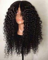 peruca virgem encaracolado malaysian da parte dianteira do laço venda por atacado-Kinky Curly Peruca de Cabelo Humano para As Mulheres Negras Virgem Malaio Do Laço Do Cabelo Frente Perucas Cheias Do Laço Perucas com o Cabelo Do Bebê