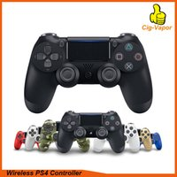 Wholesale controller dhl resale online - Top Wireless Controller SHOCK Gamepad for PS4 Joystick with Retail package LOGO Game Controller from Flydream DHL Free