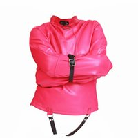Wholesale female slave costumes online - Faux Leather BDSM Bondage Sex Restraints Costumes Hand Binder Tie Up Fetish Play Slave Training Device Sexual Party Clothing Toys for Women