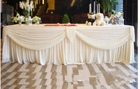 Wholesale chinese gold backdrop for sale - Group buy 3M valance decorate swags of backdrop swags decoration of the background Mantle mantle drop Party Curtain